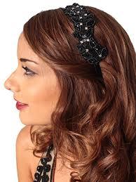 rhinestone headbands black bead rhinestone headband hair accessory blue velvet vintage