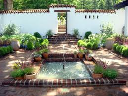 spanish house plans front courtyard garden ideas house with central designs for homes