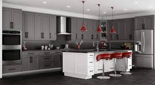 kitchen cabinets gray stain shaker grey stained cabinet solid wood