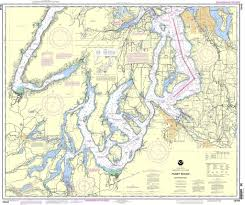 Sound Map Noaa Chart 18448 Puget Sound Southern Part