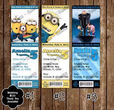 Minions Invitation Card Novel Concept Designs Despicable Me Birthday Invitations And