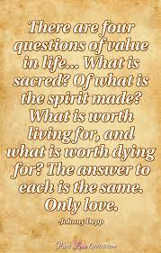there are four questions of value in what is sacred of what