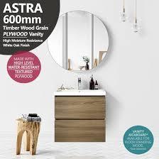 astra slimline 600mm white oak plywood timber wood grain narrow