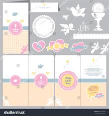 Baptismal Invitation Card Design Invitation Baby Card Baptism Invitation Christening Stock Vector