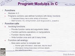 computer math programs dale csci n305 functions declarations department of