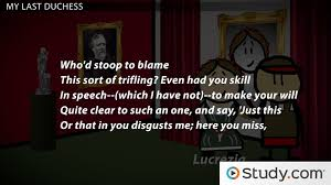 Examples Of Interior Monologue My Last Duchess Browning U0027s Poetic Monologue Video U0026 Lesson