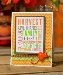 thanksgiving homemade cards brigit u0027s scraps