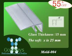 Shower Door Glass Sealer 15 Mm 004 Glass Shower Door Seal Plastic Sealing Shower