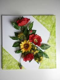 Petites Compositions Florales Composition Florale Sur Toile Les Créations Déco De Marsouille