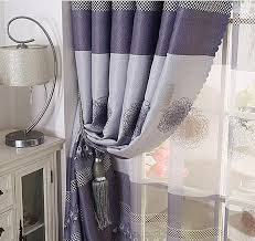 Purple Bedroom Curtains Grey And Dark Purple Polyester Blackout Best Bedroom Curtains