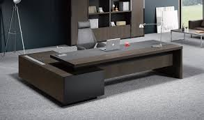 Office Furniture Table by Stylish Larry Office Table In Wood U0026 Leather Boss U0027s Cabin