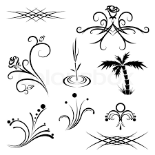 plant tattoo patterns black and white stock vector colourbox