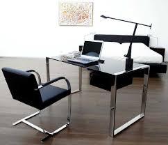 modern glass work desk home office ideas rectangular modern glass computer desk with