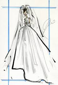 karl lacroix and more sketch their dream wedding dresses for