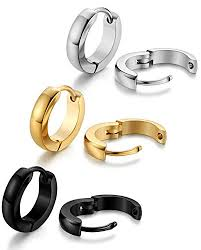 mens ear piercings jstyle stainless steel mens womens hoop earrings