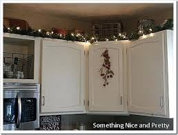 decorations for top of kitchen cabinets top of a cabinet and not