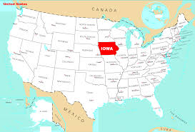 map us iowa map of iowa state map of usa