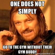 Workout Partner Meme - saturday 021316 body compound