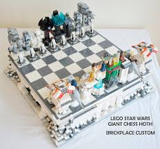 custom star wars lego hoth chess set rogue leader check technabob