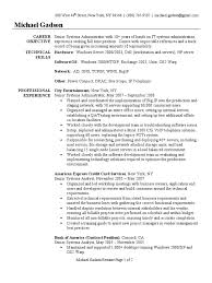 resume format for administration system administrator resume sample windows 2000 system