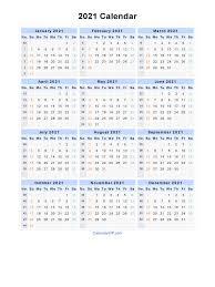 2021 calendar blank printable calendar template in pdf word excel