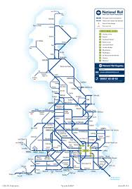 Eurostar Route Map by British Rail Atoc Tickets Pl
