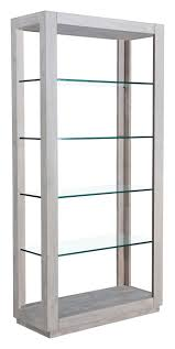 White Glass Bookcase by Modern Rustic Vintage U0026 Industrial Bookcases Shelving Alan Decor
