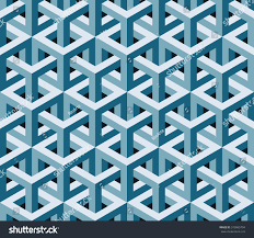 abstract blue 3d geometric seamless pattern stock vector 510965794