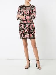 needle u0026 thread floral print dress washedblack women clothing