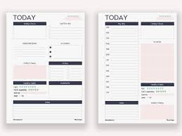daily time planner template two filofax personal daily planners printable inserts refills two filofax personal daily planners printable inserts refills also fits kikki k time planner medium audrey collection