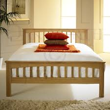 Cheap Single Bed Mattress India Heywood Solid Oak Bed Frame Double Amazon Co Uk Kitchen U0026 Home