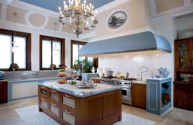 interior french country kitchen design with brushed nickel