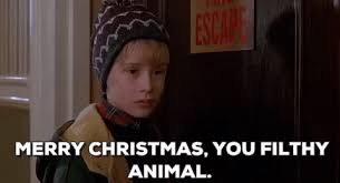 Dirty Xmas Memes - merry christmas you filthy animal gif find share on giphy
