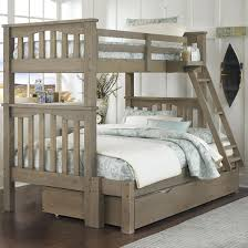 Bunk Bed With Trundle And Drawers Bed Trundle Highlands Mission Style Bunk