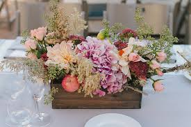rustic center pieces wedding centerpiece in planter