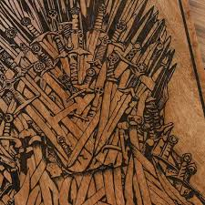 carved wood wall of thrones carved wooden poster got iron throne wood wall