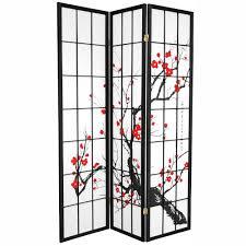 6 ft black 6 panel room divider chls 6p blk the home depot