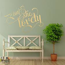 isn she lovely metallic wall decals calligraphy zoom