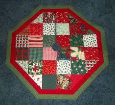 handmade quilted christmas tree skirt 31