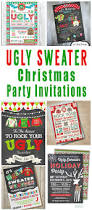 ugly christmas sweater party invitations glitter u0027n spice