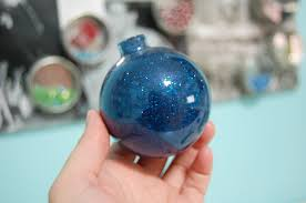 how to make glitter ornaments diy the ornament