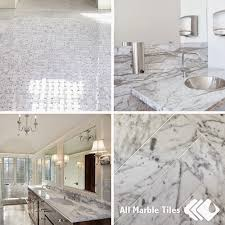italian white carrara tile or arctic white marble tile for your