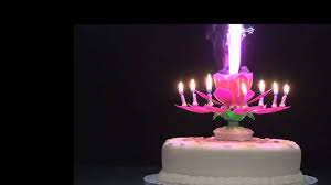 spinning birthday candle rotating musical flower candle