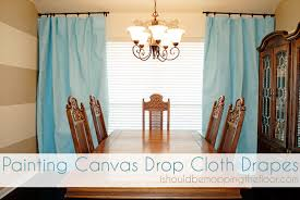 Diy Drop Cloth Curtains I Should Be Mopping The Floor Painting Drop Cloths For Drapes