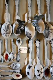 sue brown printmaker insect tableware silverware gimmies