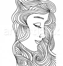 abstract sketch of woman face beauty pinterest sketches of