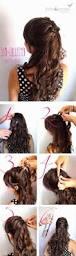 fashionable half up half down hairstyles u0026 hair tutorials for