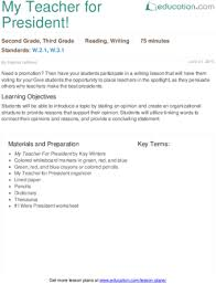 lesson plans for second grade writing education com