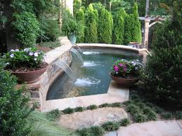 Pool Landscaping Ideas by Exterior Backyard With Sloped Garden And Pool Landscape Using