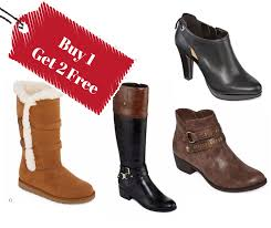 womens boots jcpenney buy 1 get 2 free jcpenney boots sale southern savers